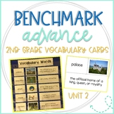 Benchmark Advance 2nd Grade Vocabulary Word, Picture, & Definition Cards Unit 2