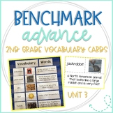 Benchmark Advance 2nd Grade Vocabulary Word, Picture, & Definition Cards Unit 3