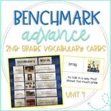 Benchmark Advance 2nd Grade Vocabulary Word, Picture, & Definition Cards Unit 4