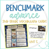 Benchmark Advance 2nd Grade Vocabulary Word, Picture, & Definition Cards Unit 5