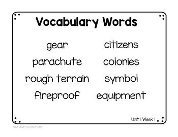 2nd Grade Vocabulary Word, Picture, & Definition Cards Bundle