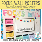 Focus Wall Posters for Second (2nd) Grade (CA Benchmark Advance)