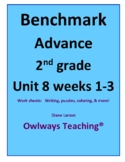 Benchmark Advance 2nd gr Unit 8 weeks 1-3 spelling worksheets