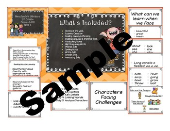 Benchmark Advance 2nd grade Focus Wall Posters Units 1-5 Bundle