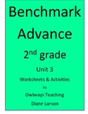 Benchmark Advance 2nd grade Unit 3 Spelling worksheets & a