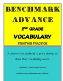 Benchmark Advance 2nd grade Vocabulary Units 1-10 Calif.