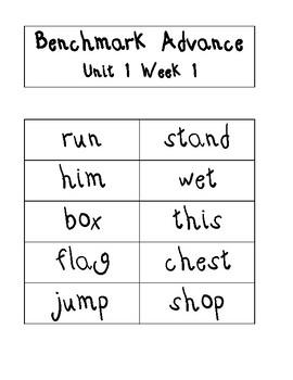 Benchmark Advance 2nd grade Word Work Workstation Spelling Bee