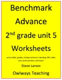 Benchmark Advance 2nd grd Unit 5 worksheets: ABC order, un