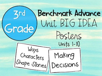 Benchmark Advance 3rd Grade Big Idea Posters