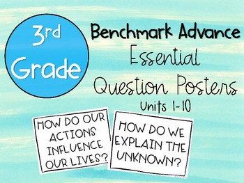 Benchmark Advance 3rd Grade Essential Question Posters