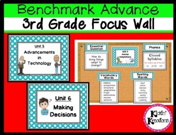 Benchmark Advance 3rd Grade Focus Wall Posters (Ca. and National)
