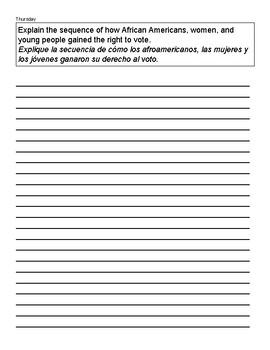 Benchmark Advance 3rd Grade Homework Recording Sheet