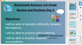 Benchmark Advance 3rd Grade Review and Routines