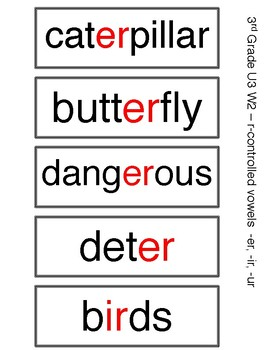 Benchmark Advance 3rd Grade Spelling Words UNIT 3