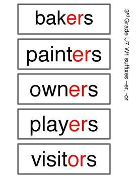 Benchmark Advance 3rd Grade Spelling Words UNIT 7