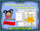 Benchmark Advance 3rd Grade Unit 1 Weekly Writing EDITABLE Resources