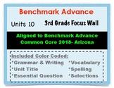 Benchmark Advance 3rd Grade Unit 10 Focus Wall Arizona Common Core