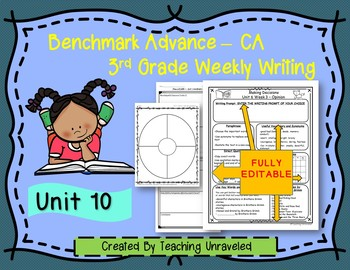Benchmark Advance 3rd Grade Unit 10 Weekly Writing