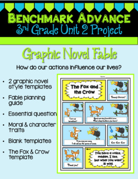 Benchmark Advance 3rd Grade Unit 2 Graphic Novel Fable Project (California)