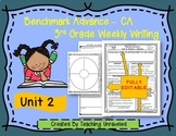Benchmark Advance 3rd Grade Unit 2 Weekly Writing EDITABLE Resources