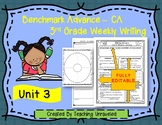 Benchmark Advance 3rd Grade Unit 3 Weekly Writing EDITABLE Resources