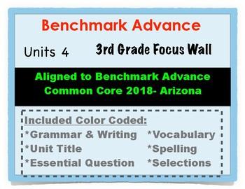 Benchmark Advance 3rd Grade Unit 4 Focus Wall Arizona Common Core