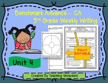 Benchmark Advance 3rd Grade Unit 4 Weekly Writing