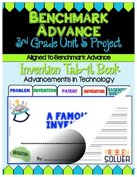 Benchmark Advance 3rd Grade Unit 5 Inventor Project (Tab-it)