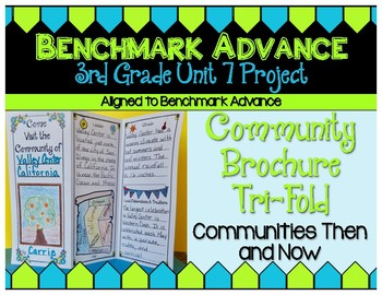 Benchmark Advance 3rd Grade Unit 7 Community Brochure Project: California