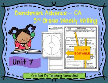 Benchmark Advance 3rd Grade Unit 7 Weekly Writing