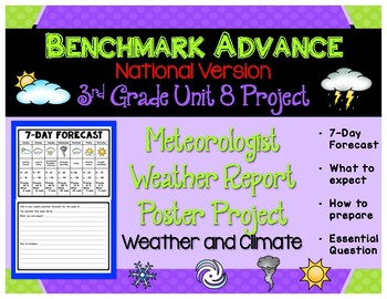 Benchmark Advance 3rd Grade Unit 8 Meteorologist Project (Out of Ca.