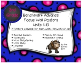 Benchmark Advance 3rd (THIRD) Grade Focus Wall Posters UNITS 1-10 BUNDLE!!