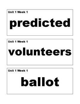 Benchmark Advance 3rd (THIRD) Grade Vocabulary Cards-SIMPLE STYLE