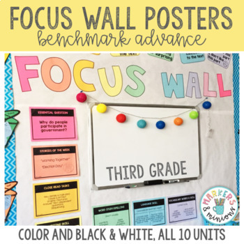 Benchmark Advance 3rd (Third) Grade Focus Wall Posters (GROWING BUNDLE!)