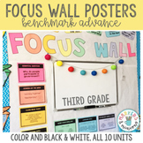 Benchmark Advance 3rd (Third) Grade Focus Wall Posters