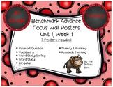 Benchmark Advance 4th (FOURTH) Grade Focus Wall Posters FREEBIE