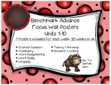 Benchmark Advance 4th (FOURTH) Grade Focus Wall Posters UNITS 1-10 BUNDLE!!
