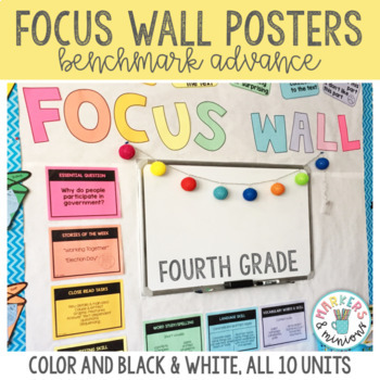 Benchmark Advance 4th (Fourth) Grade Focus Wall Posters (GROWING BUNDLE!)
