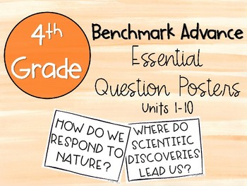 Benchmark Advance 4th Grade Essential Question Posters