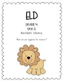 Benchmark Advance 4th Grade Unit 3 ELD Companion