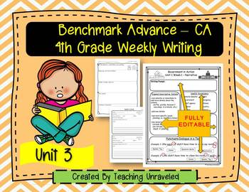 Benchmark Advance 4th Grade Unit 3 Weekly Writing