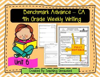 Benchmark Advance 4th Grade Unit 6 Weekly Writing