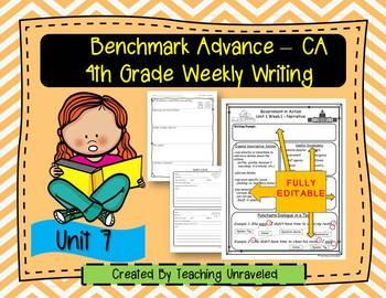 Benchmark Advance 4th Grade Unit 7 Weekly Writing