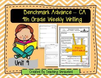 Benchmark Advance 4th Grade Unit 9 Weekly Writing