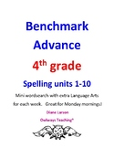 Benchmark Advance 4th grd Spelling Units 1-10, wordsearch