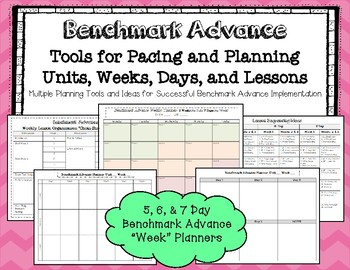 """Benchmark Advance* 5, 6, and 7 Day """"Week"""" Planning Tools"""
