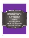 Benchmark Advance 5th (Fifth) Grade Vocabulary Cards-Chalkboard Style