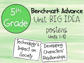 Benchmark Advance 5th Grade Big Idea Posters