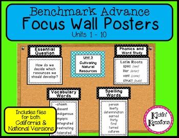 Benchmark Advance 5th Grade Focus Wall Units 1-10
