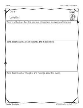 Benchmark Advance 5th Grade Unit 4 Weekly Writing
